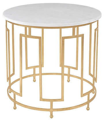 Caldwell White Marble Accent Table - SAF