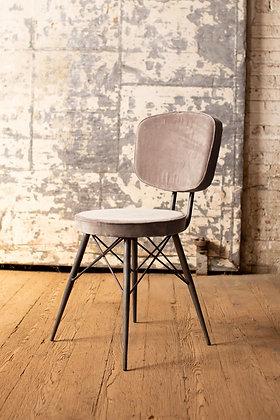 Velvet Dining Chair With Iron Frame  - KAL
