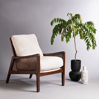 Moretti Wood Frame Accent Chair - SAF