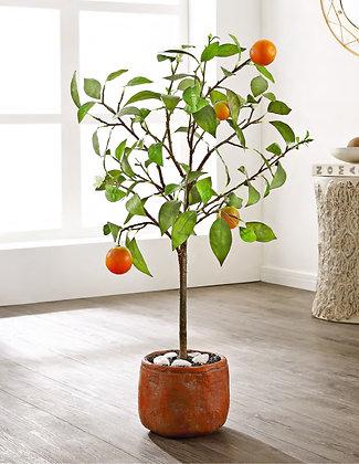 FAUX ORANGE POTTED TREE - SAF