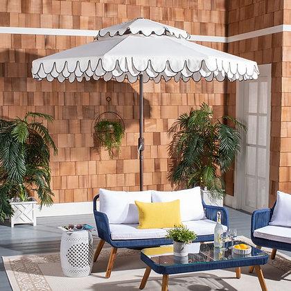 Elegant Valance 9ft Double Top Umbrella - SAF