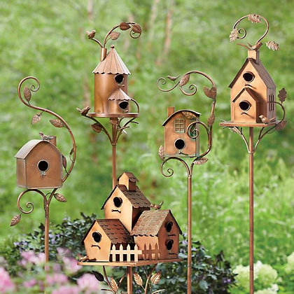 Birdhouse Garden Stakes - GR