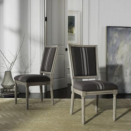 Buchanan 19'' H French Brasserie Linen Side Chair - Set of 2 - SAF