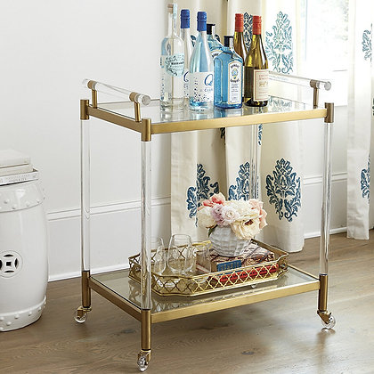 Isadora Acrylic Bar Cart - BD