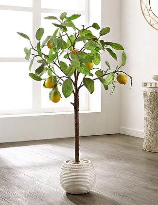 FAUX LEMON POTTED TREE - SAF
