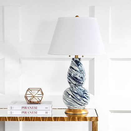 COLOR SWIRLS 28-INCH H GLASS TABLE LAMP - SAF