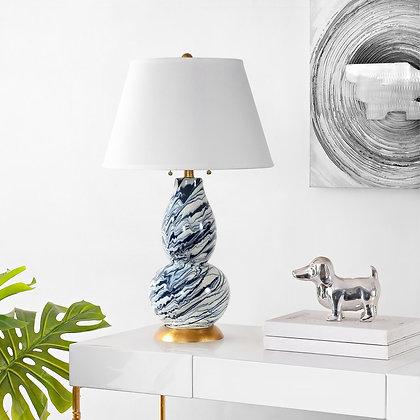 COLOR SWIRLS GLASS TABLE LAMP - Set of 2 - SAF