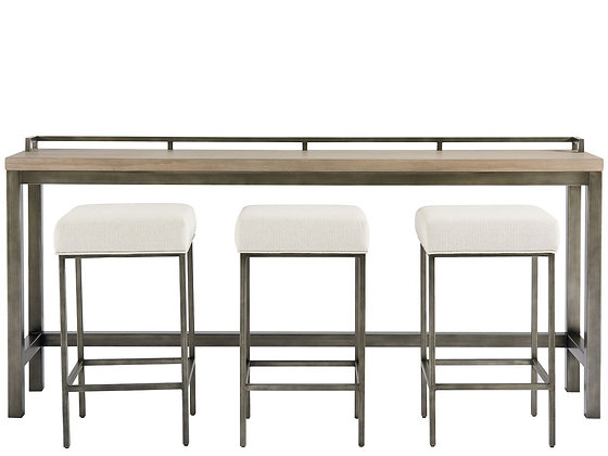 MITCHELL CONSOLE TABLE WITH 3 STOOLS    - UF