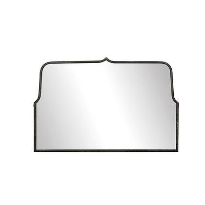Metal Framed Wall Mirror, Distressed Black - CC