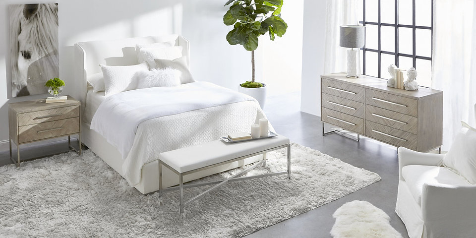 Stewart Upholsterd Bed - Livesmart Peyto