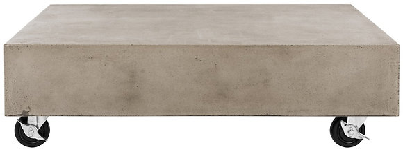 Gargon Indoor/outdoor Modern Concrete 9.84-inch H Coffee Table With Casters- SAF