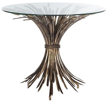 Ayris Sheaf Gold Leaf Accent Table - SAF