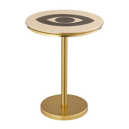 EYE HANDPAINTED SIDE TABLE - TOV
