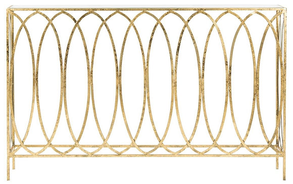Carina Oval Ringed Console Table - SAF
