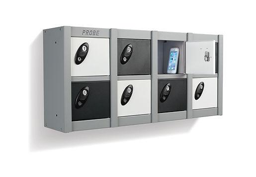 Wall mounted multi door locker with mobi