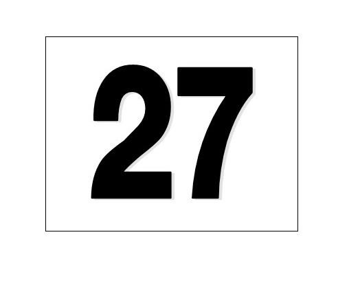 Number stickers that stick on locker doors