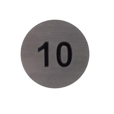 Number discs for identifying students lockers