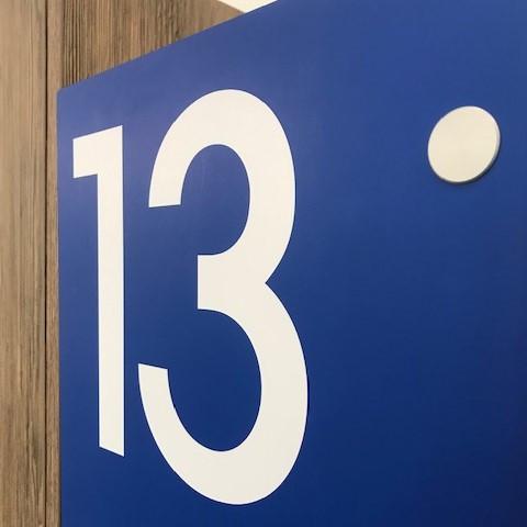 Sick on vinyl numbering for locker doors