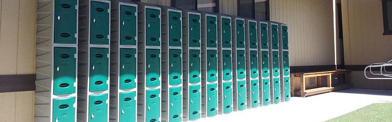 Waterproof lockers