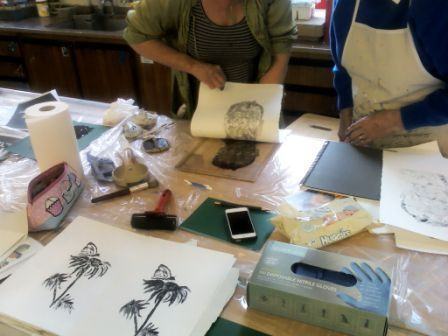 Suzie Hunt workshop monoprint