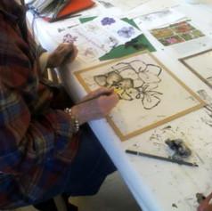Suzie Hunt workshop monoprint