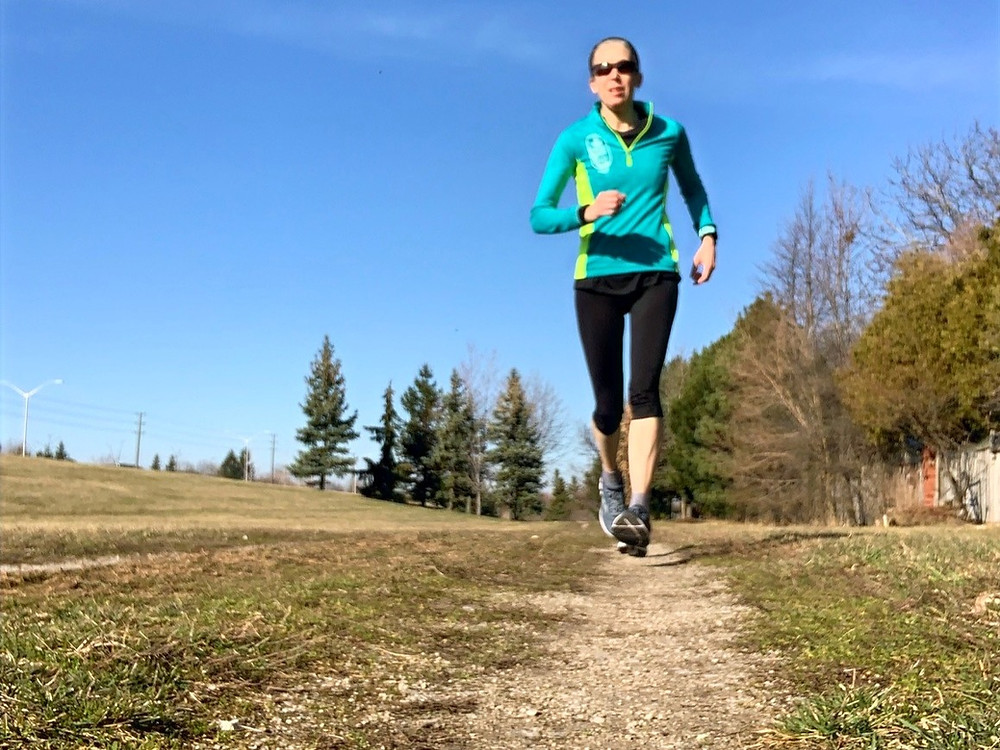 Running solo on a path during Covid-19