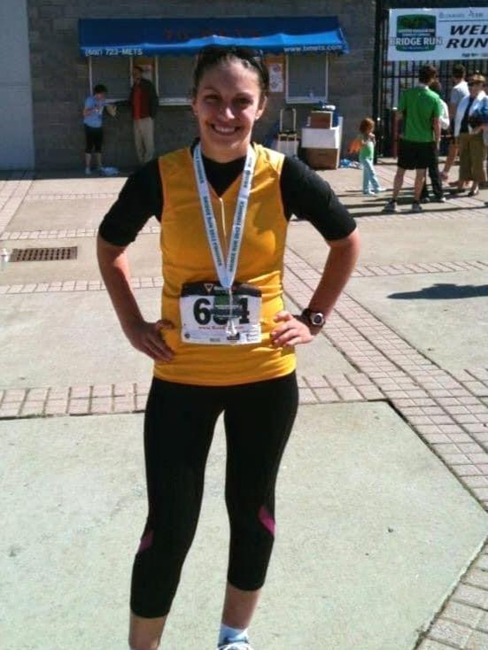 Completing a half-marathon after endometriosis.
