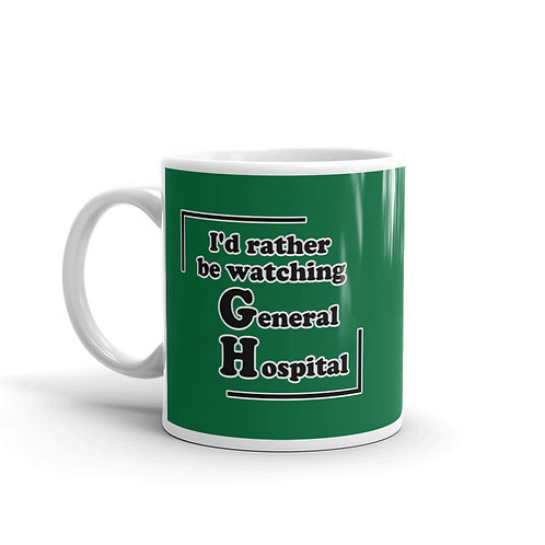 I'd Rather Be Watching GH Mug - Green