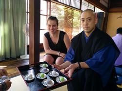 Meditation with Zen Monk