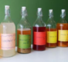 Water Kefir in Various Flavours