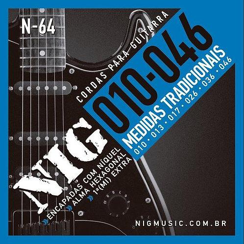 NIG Guitarra Eléctrica 6 Cuerdas NICKEL 10-46
