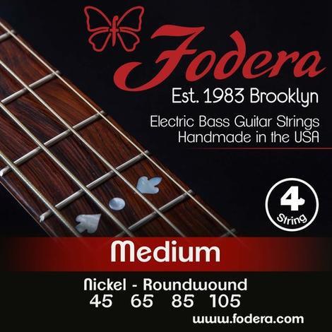 FODERA Bajo Eléctrico 4 Cuerdas NICKEL MEDIUM 45-105