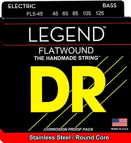 DR Bajo Eléctrico 5 Cuerdas LEGEND Flatwound 45-125