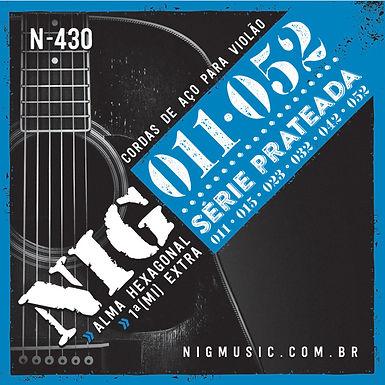 NIG Guitarra Acústica 6 Cuerdas SILVER 11-52