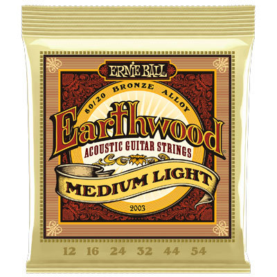 ERNIE BALL Guitarra Acústica 6 Cuerdas 80/20 BRONCE Earthwood 12-54