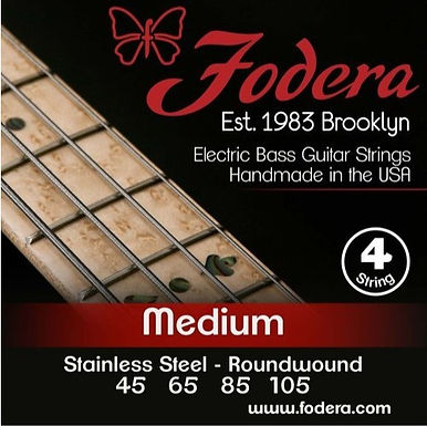 FODERA Bajo Eléctrico 4 Cuerdas STAINLESS STEEL MEDIUM 45-105