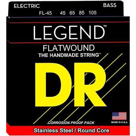 DR Bajo Eléctrico 4 Cuerdas LEGEND Flatwound 45-105