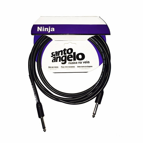 SANTO ANGELO Cable Instrumento NINJA OFC 3.05M - Plug 2 Rectos