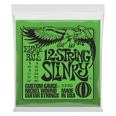 ERNIE BALL Guitarra Eléctrica 12 Cuerdas SLINKY 08-40