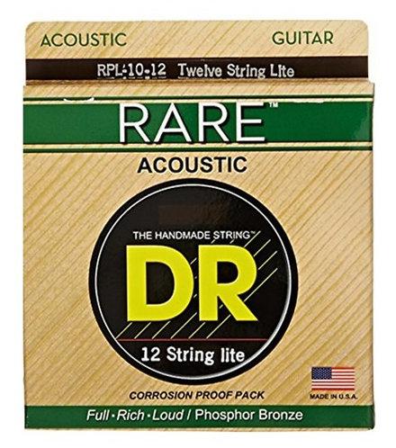 DR 12 Cuerdas Guitarra Acústica RARE Light 10-48