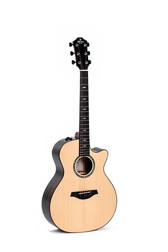 SIGMA Guitarra Folk E/A Grand OM GZCE-3+ Fishman Flex Plus