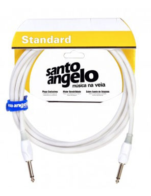 SANTO ANGELO Cable Instrumento OFC SNOW 6.10M - 2 Plug Rectos