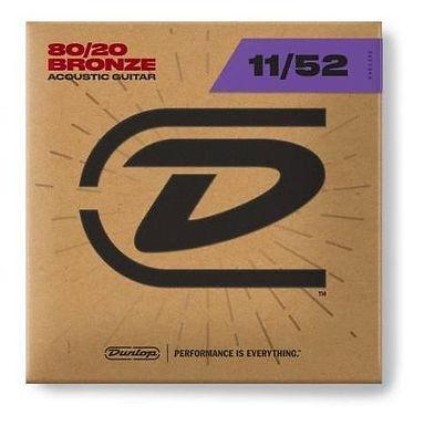 DUNLOP Guitarra Eléctrica 6 Cuerdas 80/20 BRONCE 11-52