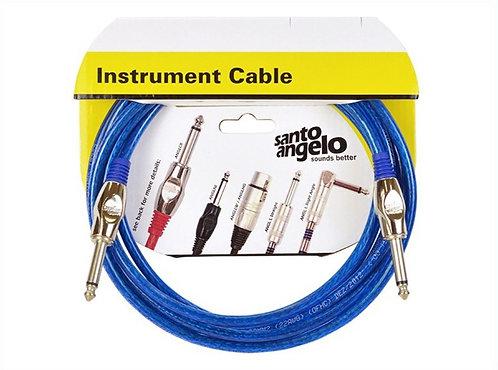 SANTO ANGELO Cable Instrumento OFC Cristal 6,10M - Plug 2 Rectos