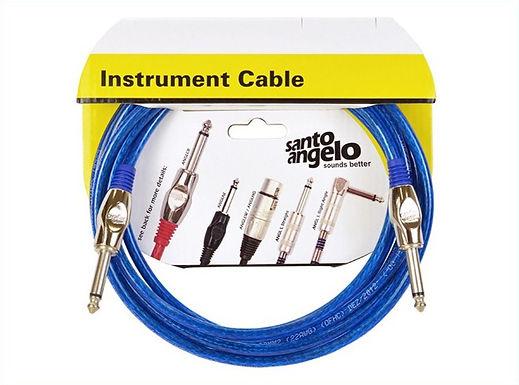 SANTO ANGELO Cable Instrumento OFC Cristal 6.10M - Plug 1L 1Recto
