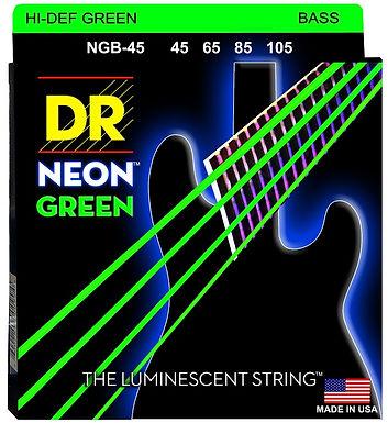 DR Bajo Eléctrico 4 Cuerdas NEON GREEN 45-105