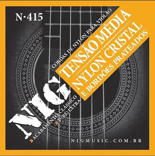 NIG Guitarra Acústica 6 Cuerdas NYLON Tensión Normal
