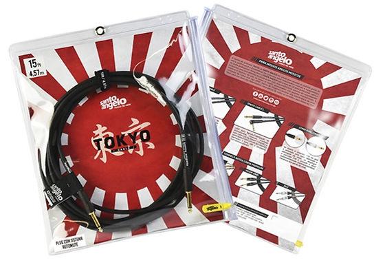 SANTO ANGELO Cable Instrumento OFC TOKYO 4.57m 2 Plug Rect (2 Mute Automáticos)