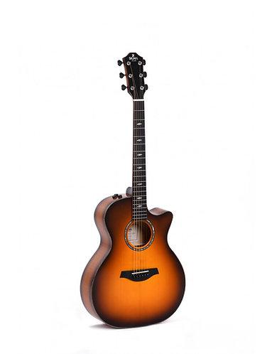 SIGMA Guitarra Electroacústica Grand OM GACE-3 Fishman Flex Plus
