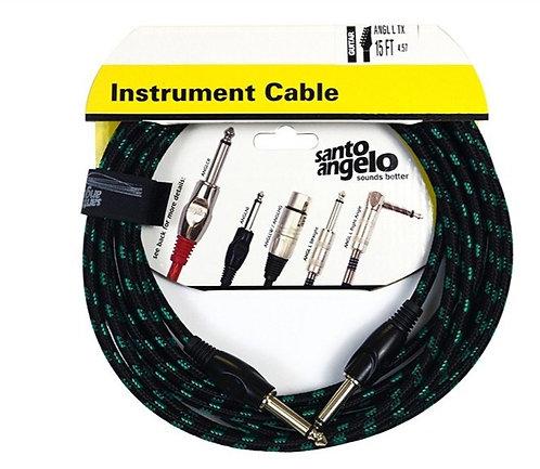 SANTO ANGELO Cable Instrumento OFC ANGEL Textil 6.10M - Plug 1 Recto 1 L
